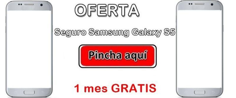 Oferta para contratar seguro Samsung Galaxy S5