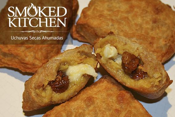 Aborrajados y Uchuvas secas ahumadas smoked kitchen