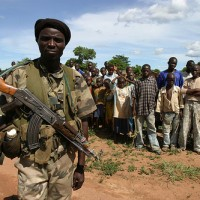 UFDR soldier at a refugee camp in Venga, Central African Republic