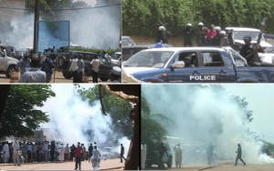 Violence has flared in Niamey in August (bottom) and September (top).