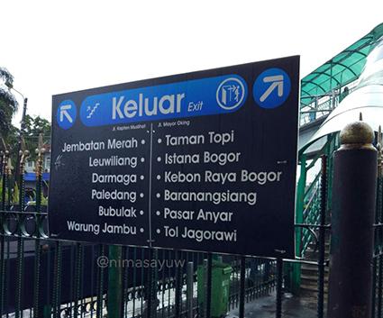 Dari stasiun Bogor ke arah kiri (stasiun paledang)