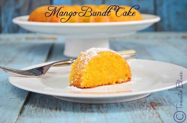 Eggless Glazed Lemon Cake