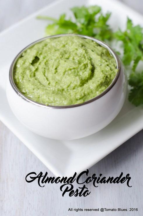 Almond cilantro pesto