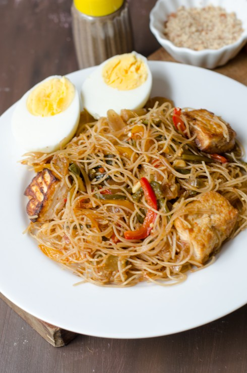 spicy rice noodles with tofu