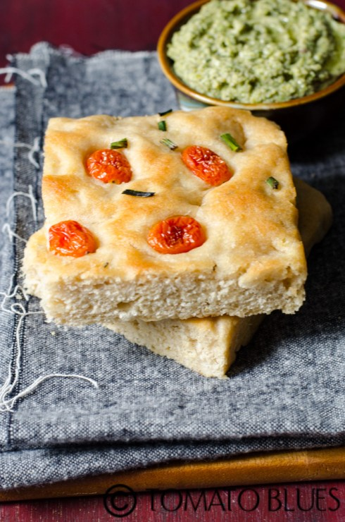 no knead whole wheat focaccia