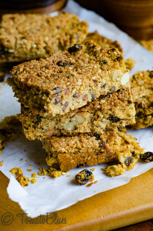 Millet Flakes Granola Bars