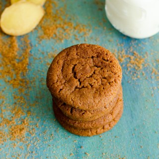 Eggless Gingersnaps Cookies