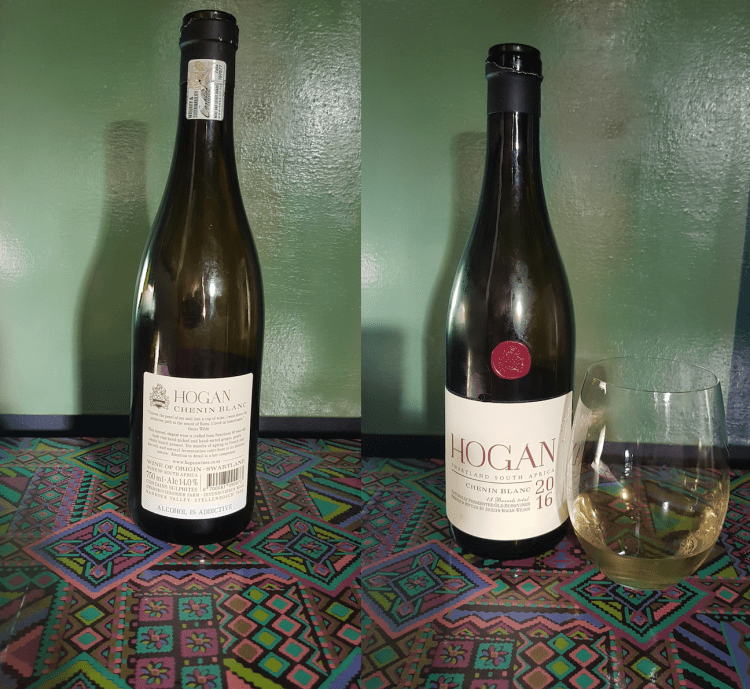 Hogan chenin blanc from swartland is naturally fermented