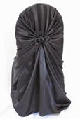 Chair Cover Black Satin