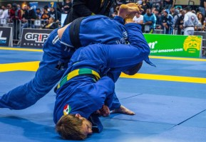 Attacking an Arm Bar in the finals of the 2015 European Championships