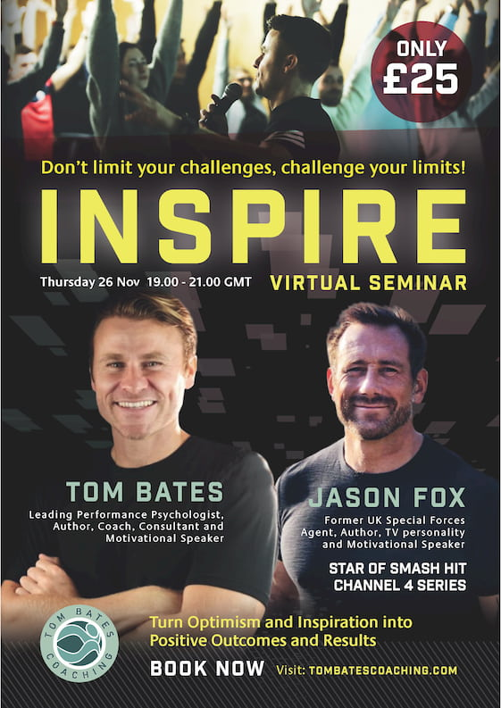 Image of the poster for the Inspire Virtual Seminar with Tom Bates and Jason Fox