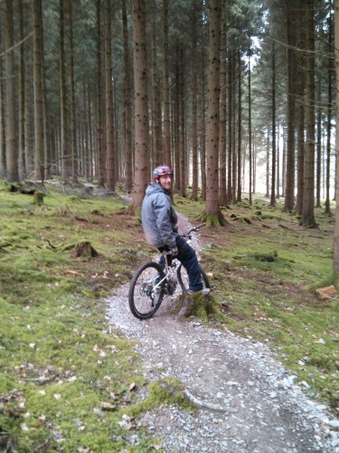 AJ in the FOD with his new bike