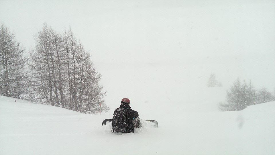 Snowboarding Diavolezza