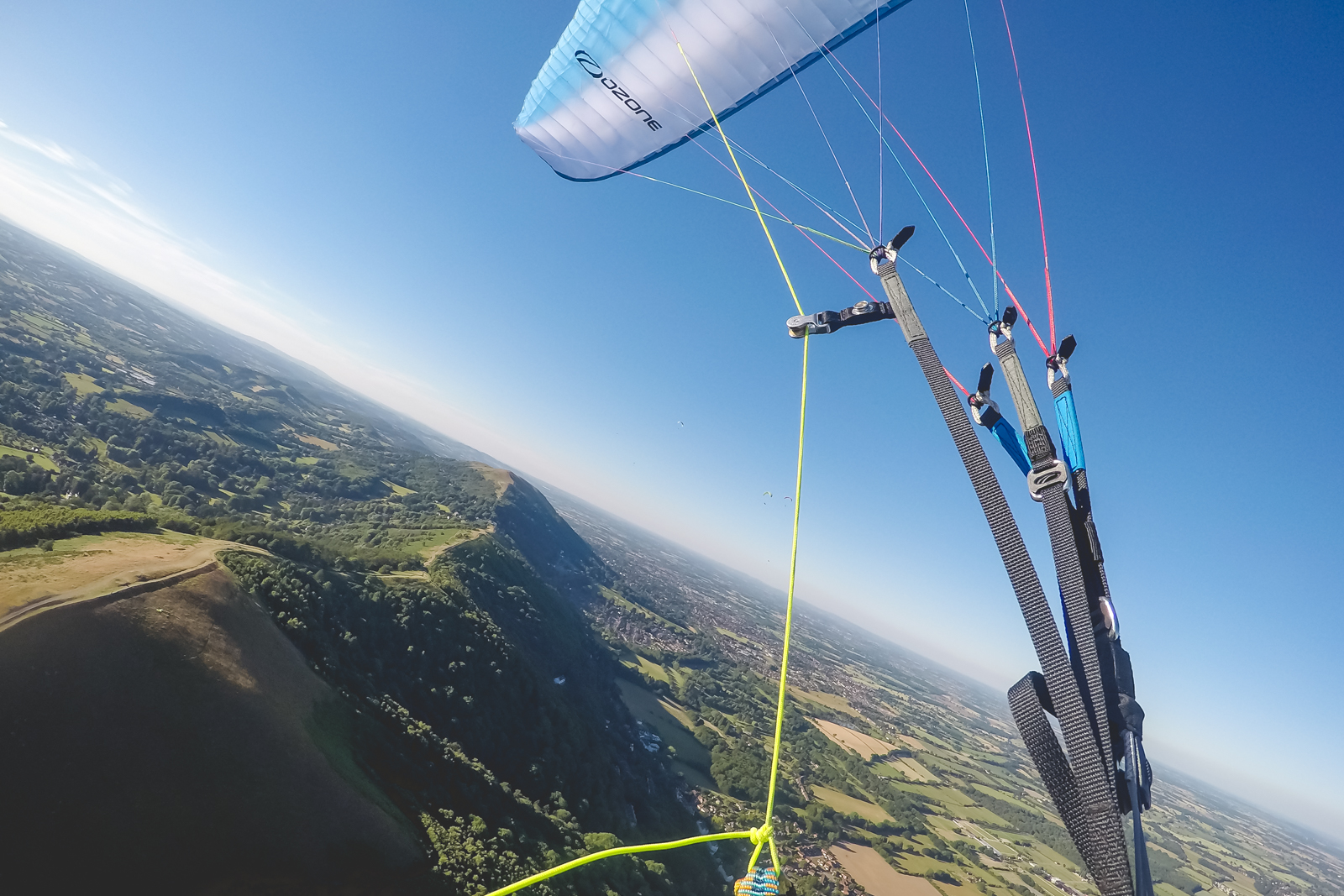 Paragliding over the Malverns