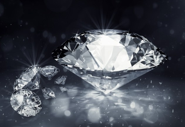 diamonds on dark background
