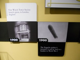 The time line runs right through the exhibit, from 60c.e or earlier to 2015