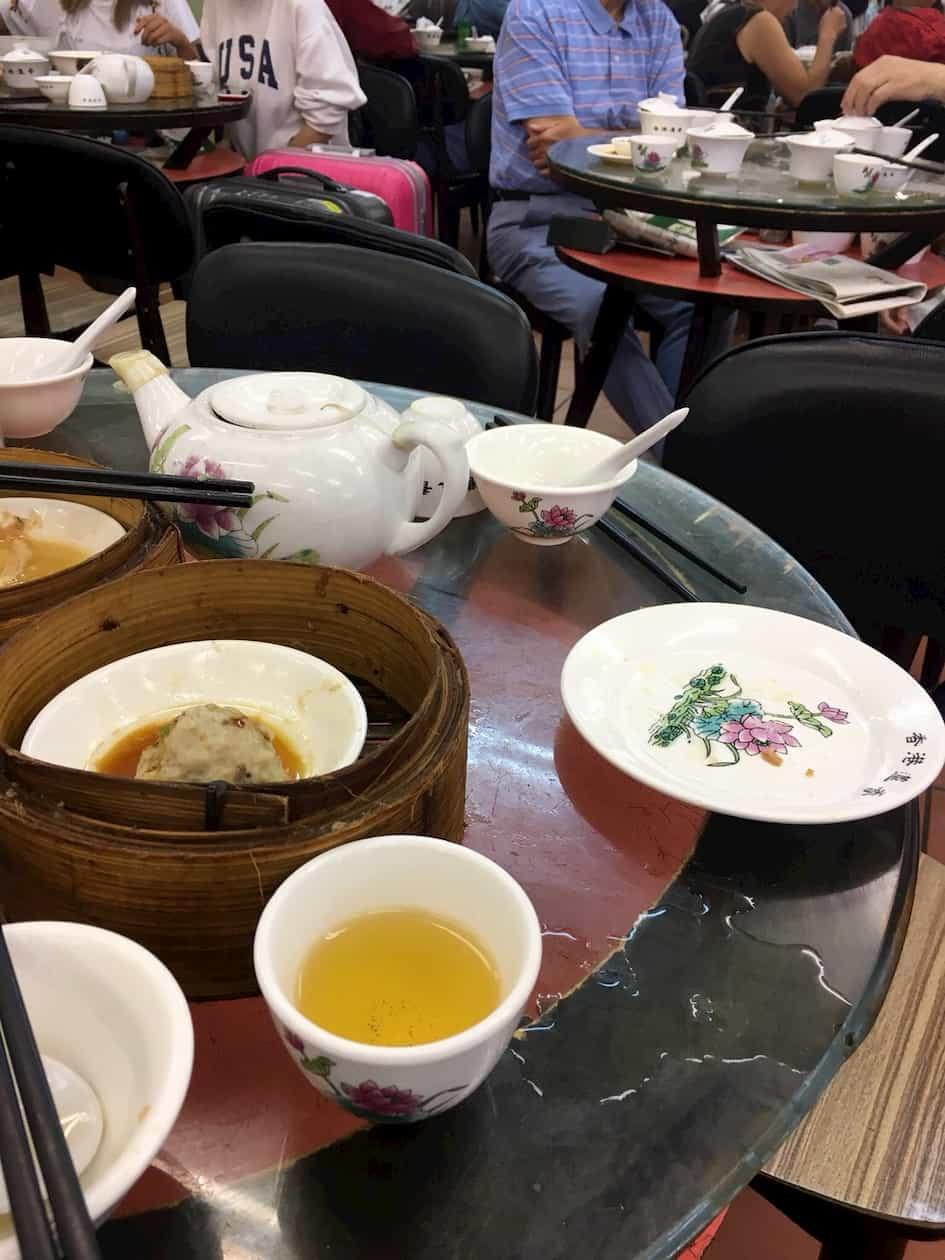 香港老舗飲茶洗杯