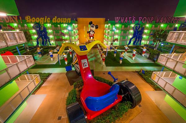 Mickey Mouse at Disney's Pop Century Resort. Review: http://www.disneytouristblog.com/pop-century-review/