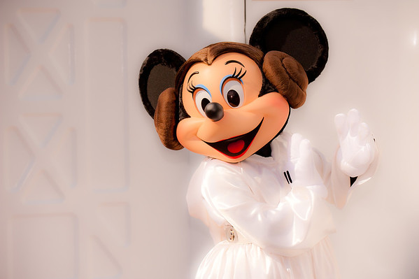Leia, protrayed here by Minnie Mouse, is the newest Disney Princess! Read about Star Wars Weekends: http://www.disneytouristblog.com/star-wars-weekends-tips-photos/