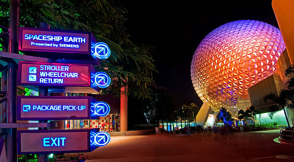 EPCOT directional signs of the past...For more