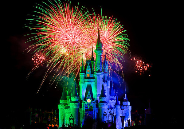 HalloWishes fireworks during Mickey's Not So Scary Halloween Party!MNSSHP Tips: https://www.disneytouristblog.com/mickeys-not-so-scary-halloween-party-review-tips/