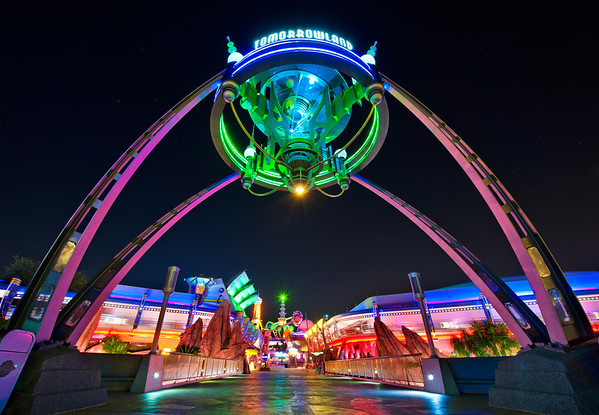 Tomorrowland is my favorite land at night. What is yours?More Tomorrowland night photos: https://www.disneytouristblog.com/tomorrowland-night-photos/