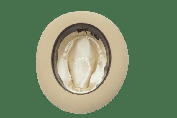 Sombrero banquera 20 estrellas beige