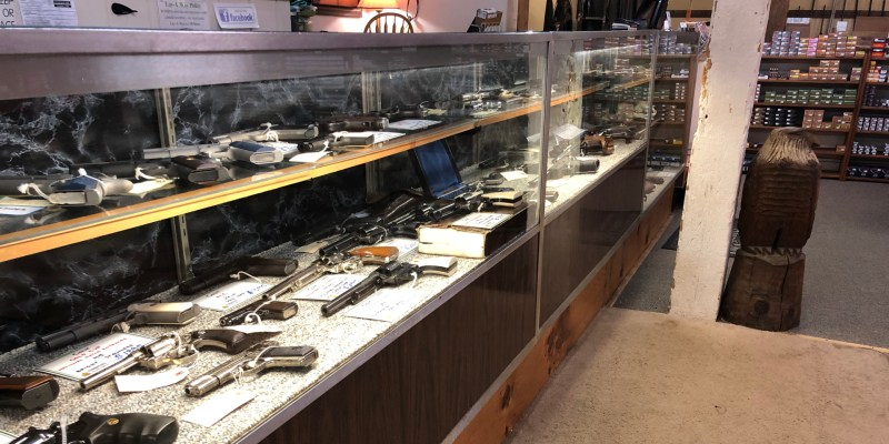 A variety of used guns in our display cases