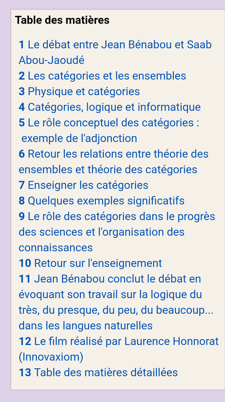 Debate (French): Set Theory vs Category Theory   Math Online Tom Circle