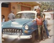 Jonathan in Ciudad Mante with a DeSoto 1978