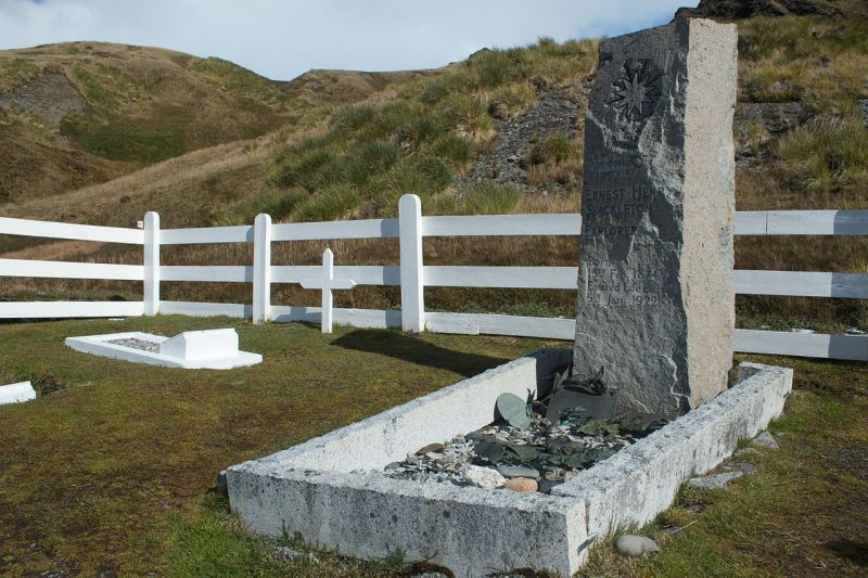 Sir Ernest Shackleton's Grave - Grytviken, South Georgia