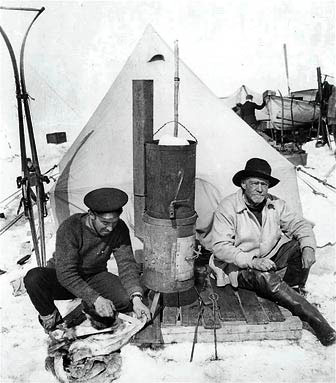 Frank Hurley & Shackleton at Ocean Camp