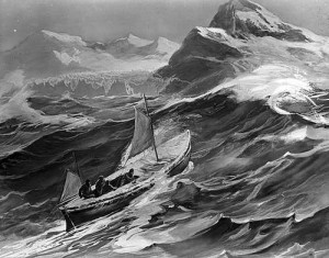 Depiction of The James Caird