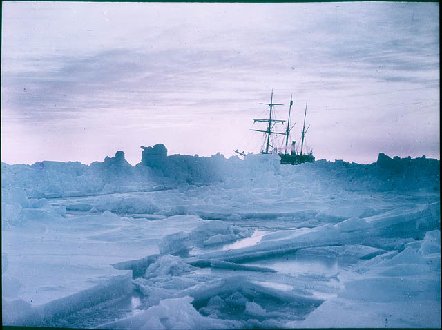 A mid-winter glow, Weddell Sea [showing The 'Endurance'], 1915 / by Frank Hurley
