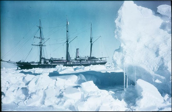 The 'Endurance' frozen in 76/35 South, 1915 / photographed by Frank Hurley