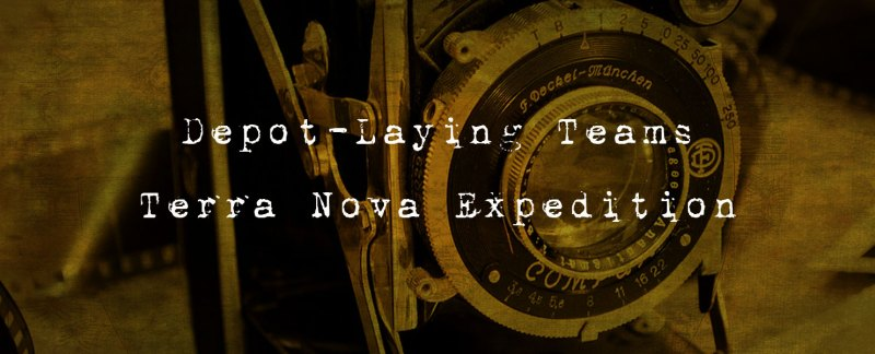 Depot Laying Teams - Terra Nova Expedition