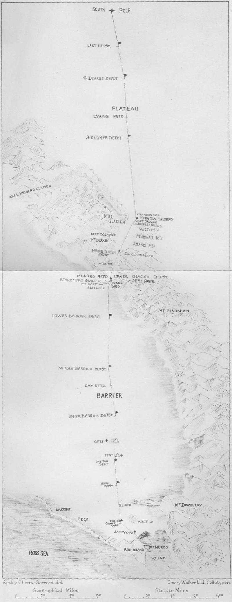 Terra Nova Expedition Route Map