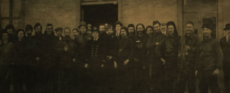Shackleton & the Endurance crew at Punta Arenas, Chile.