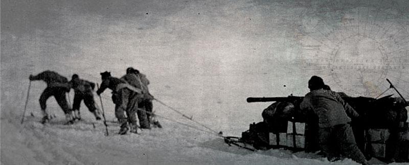 Tom Crean on the Polar Plateau