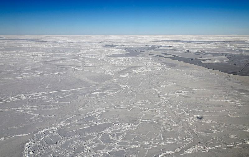 Sea ice on the Weddell Sea.