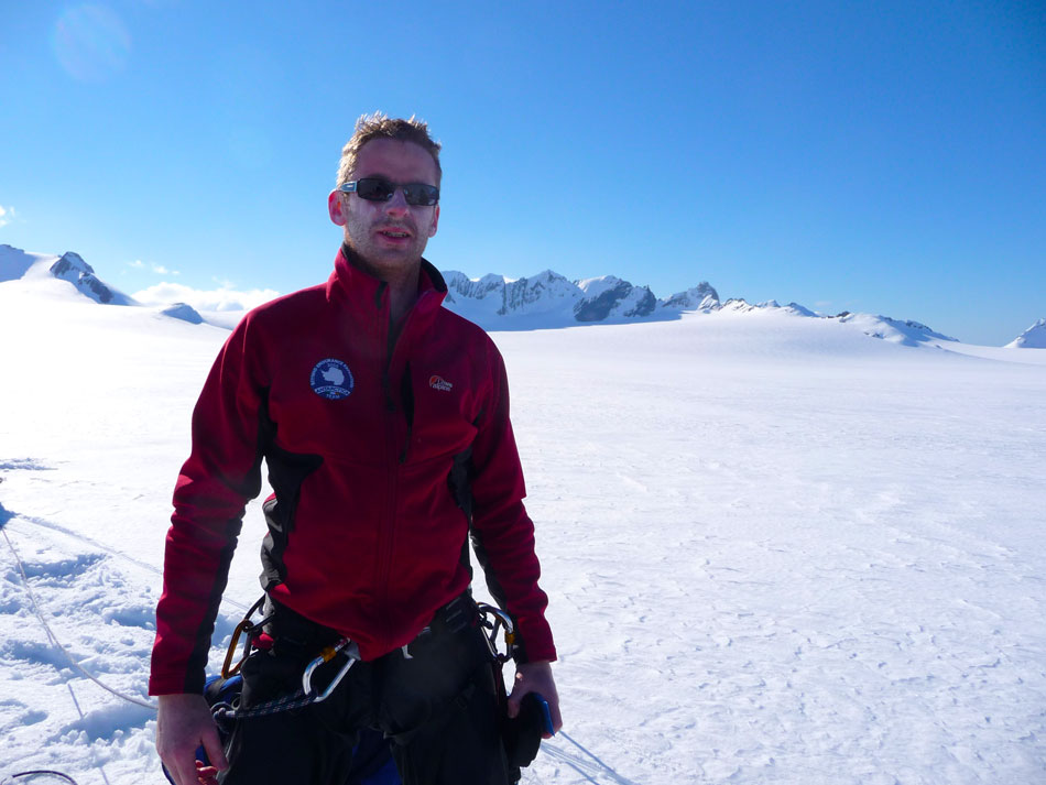 Jerry O'Sulliva during the Beyond Endurance traverse of South Georgia.