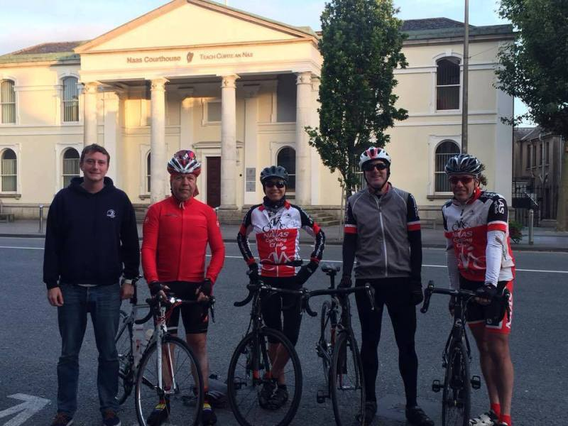 Members of Naas Cycling Club, before departure on last year's 312 km cycle to Annascaul, in honour of Tom Crean.