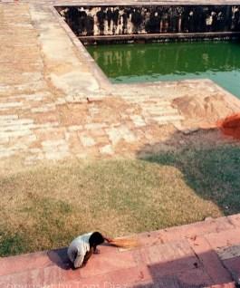 """""""The Sweeper."""" At Fatehpur Sikri, India, November 2003"""