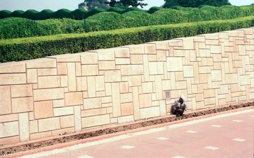 """""""The Memorial."""" At the Gandhi Memorial, Delhi, India, November 2003"""