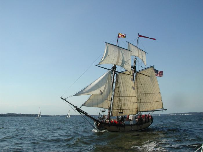 Schooner SULTANA - off Annapolis, MD