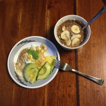Eggs and Avocado and Cereal