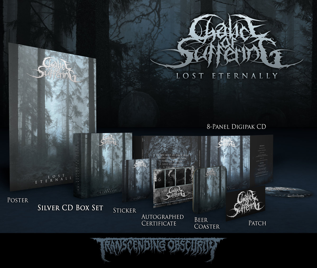 CHALICE OF SUFFERING - 'Lost Eternally' Silver CD Box Set - TRANSCENDING  OBSCURITY