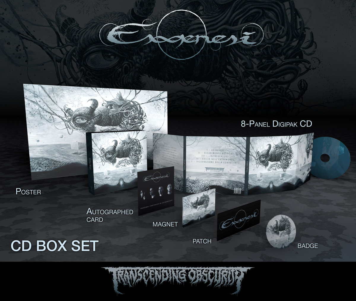 ESOGENESI (Italy) – Self - titled (Death / Doom Metal) Autographed Limited  Edition CD Box Set - TRANSCENDING OBSCURITY