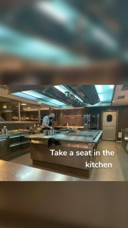 Take a seat in the kitchen