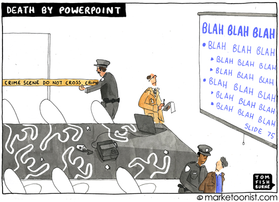 Death by Powerpoint (Credits: Tom Fishburne)